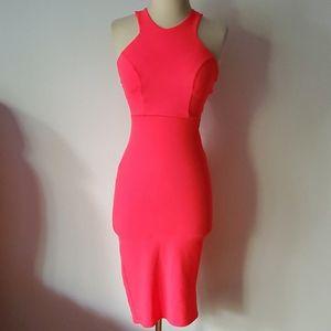 Blue blush coral/neon pink dress szS [456]